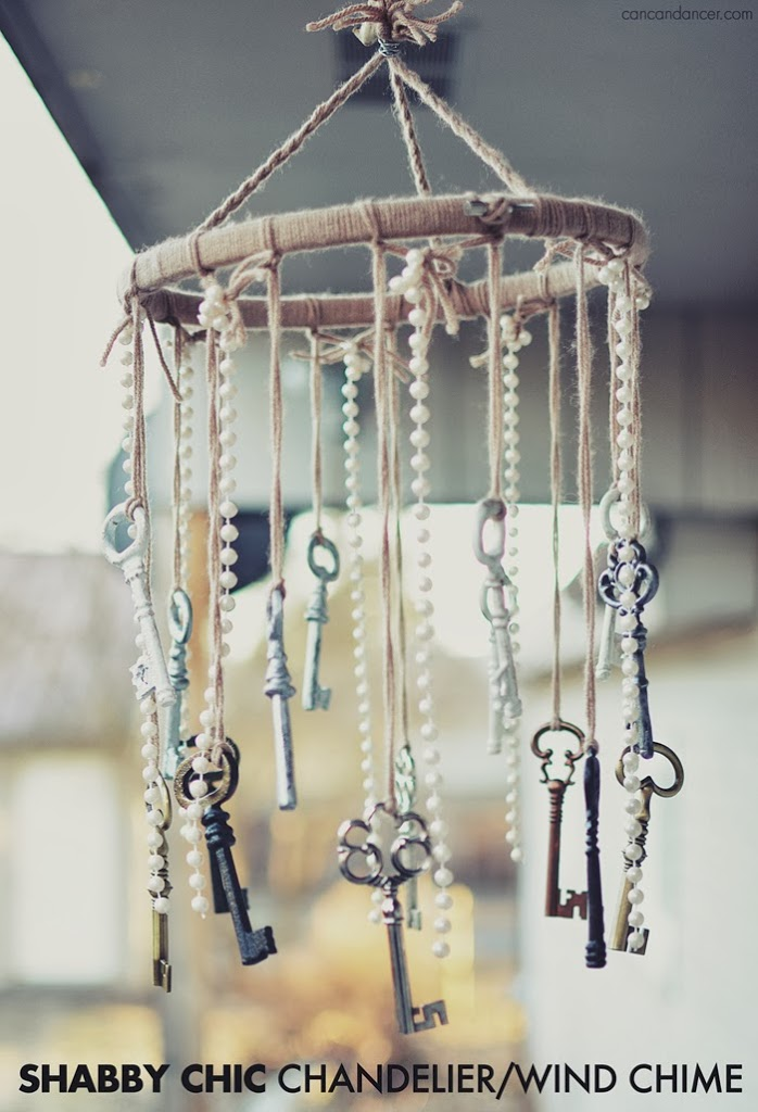 Shabby Chic ChandelierWind Chime Can Can Dancer