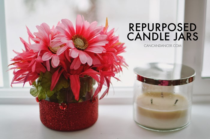 Repurposed Candle Jars Can Can Dancer