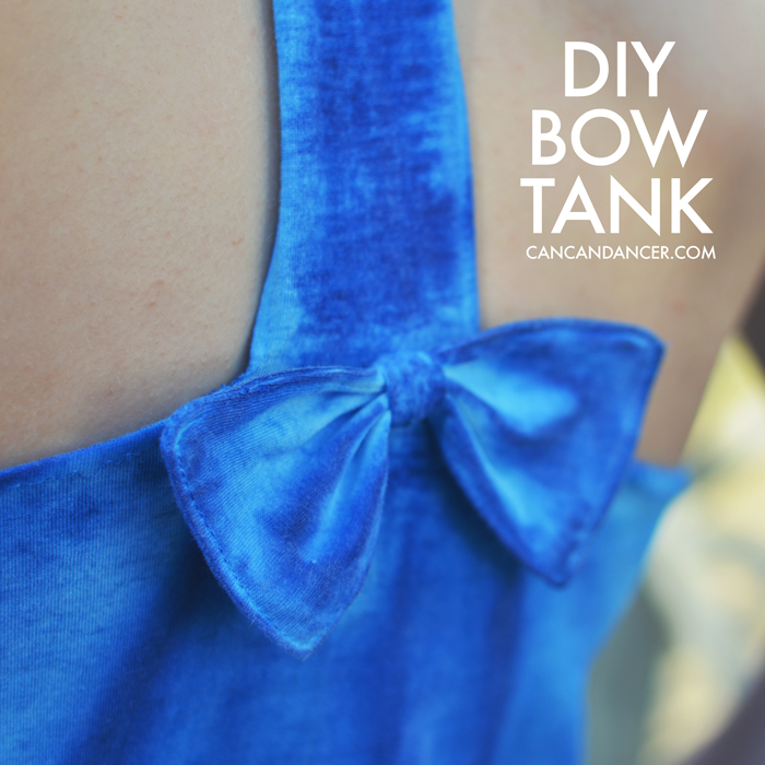 Diy Bow Tank Can Can Dancer