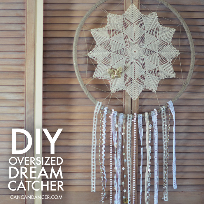 How To Make A Big Dream Catcher DIY Oversized Dreamcatcher Can Can Dancer 23
