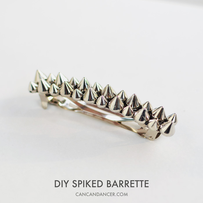 DIY Spiked Barrette