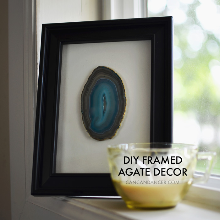 DIY Framed Agate Decor