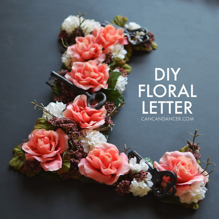 Diy Floral Letter Can Can Dancer