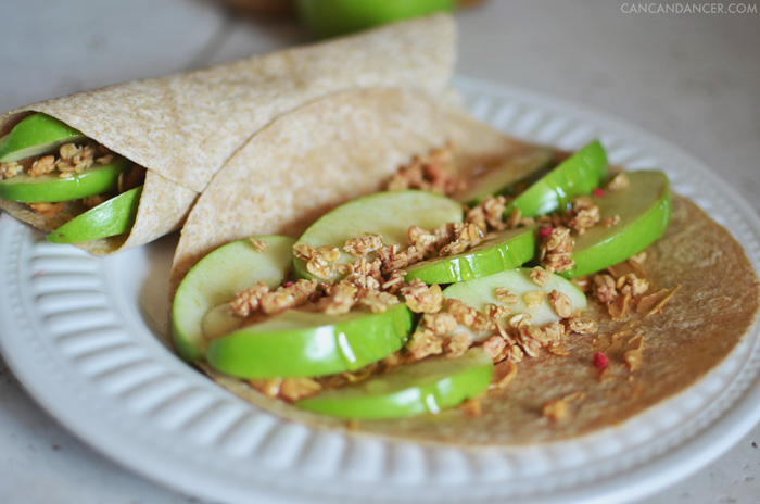 Peanut Butter & Apple Snack Wraps