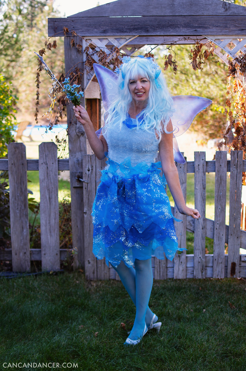 diy halloween costume 4 blue fairy - Can Can Dancer Halloween Costume