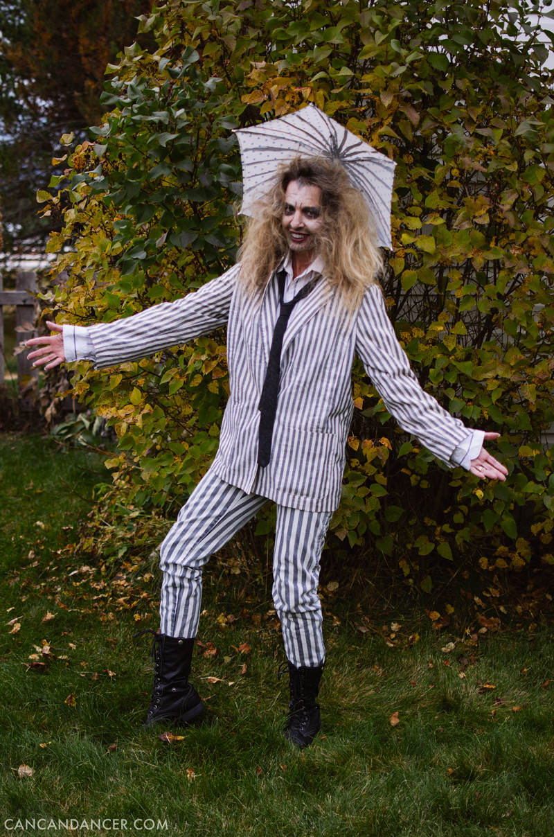 diy halloween costume 7 beetlejuice - Can Can Dancer Halloween Costume