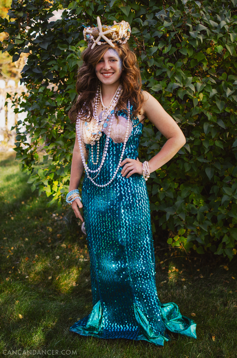 diy halloween costume 2 mermaid - Can Can Dancer Halloween Costume