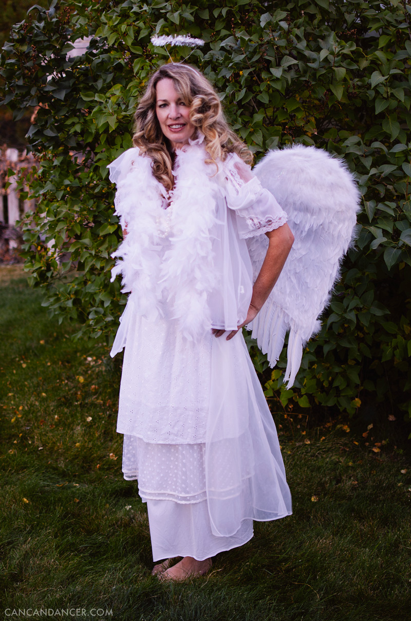 diy halloween costume 6 angel - Can Can Dancer Halloween Costume