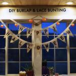 DIY Burlap & Lace Bunting