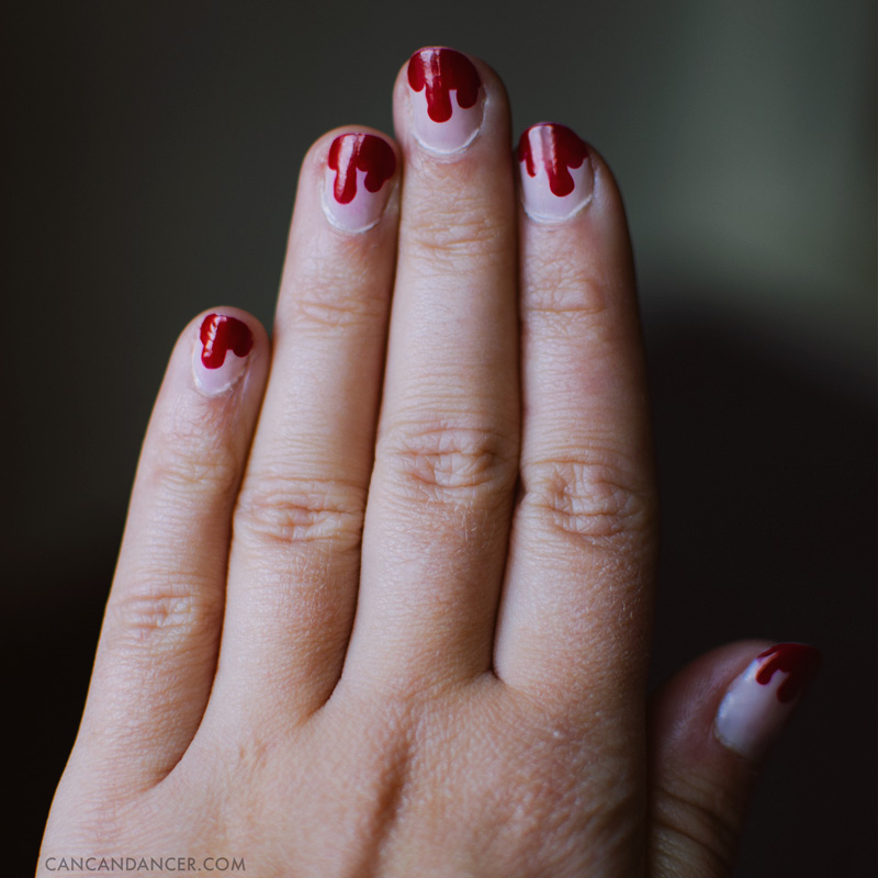 Vampire Nail Art (for Julep's Halloween Nail Art Contest) | Can Can
