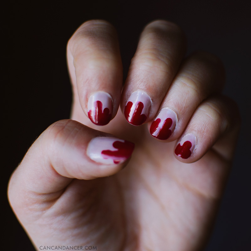 Vampire Nail Art (for Julep's Halloween Nail Art Contest)